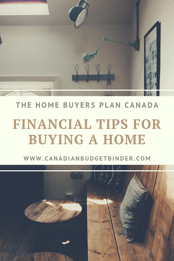 Financial Tips Home Buyers Plan Canada