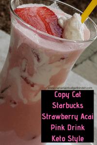 keto copycat starbucks pink drink keto