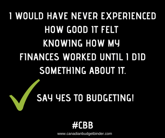 quote say yes to budgeting