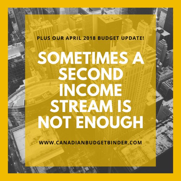 sometimes a second income stream is not enough