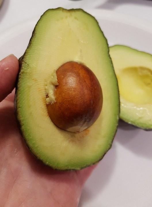 ripe avocado cut in halfripe avocado cut in half