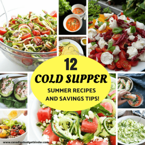 cold supper summer recipes and savings tips FB