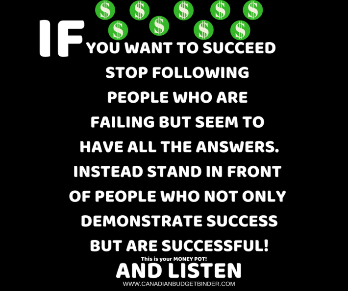 this is your money pot listen to those who are successful if you want to succeed