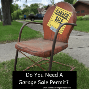 Do You Have Your Garage Sale Permit?  : The Saturday Weekend Review #261