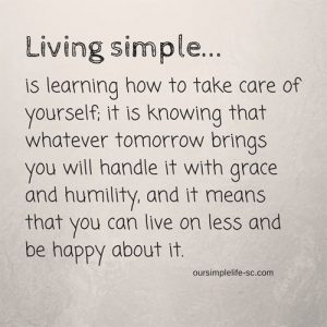 living simple quote