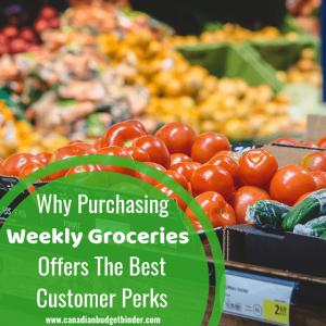 purchasing weekly groceries customer perks fb