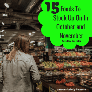 foods to stock up on in October and November