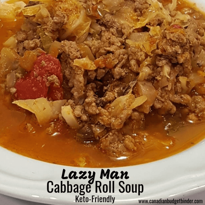 Lazy Man cabbage roll soup keto friendly