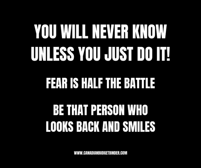 YOU WILL NEVER KNOW UNLESS YOU JUST DO IT! motivational quote