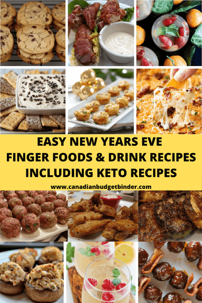New Years Eve Finger Foods Including Keto Recipes