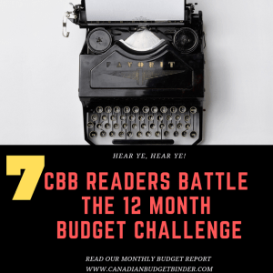 CBB READERS BATTLE THE 12 MONTH BUDGET CHALLENGE