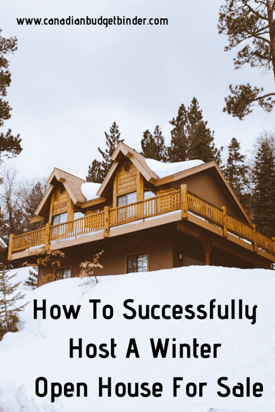 how to successfully host a winter open house for sale