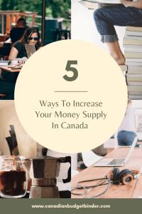 increase money supply Canada