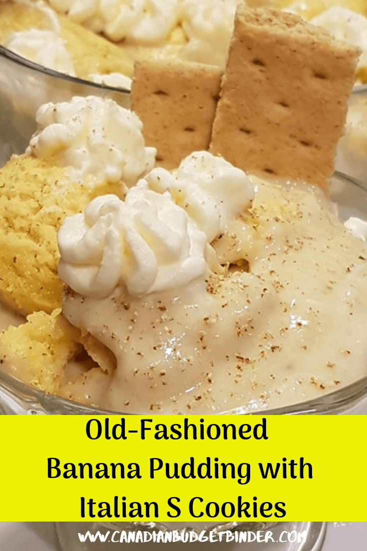 Old-Fashioned Banana Pudding Italian With S Cookies