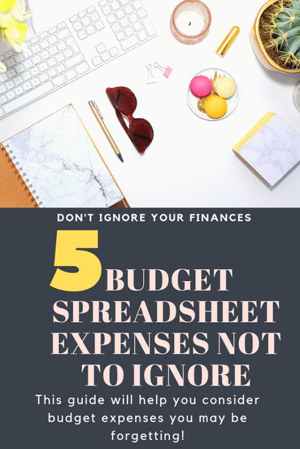 Budget Spreadsheet Categories