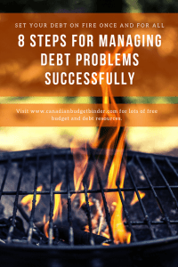 8 steps for managing debt problems successfully