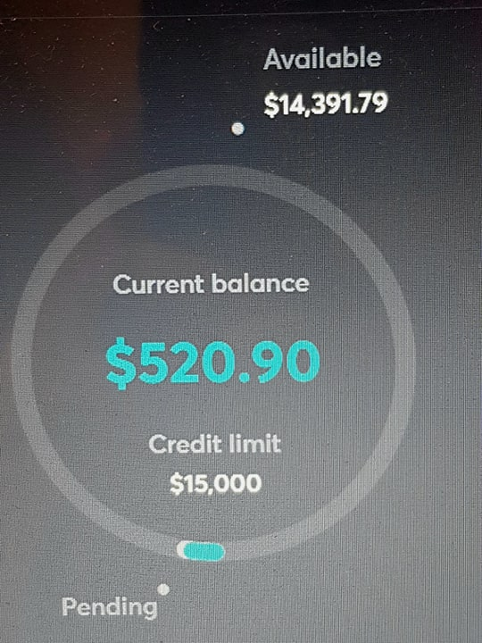 pending credit card transactions