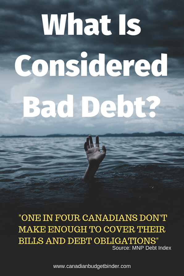 what is considered bad debt in canada