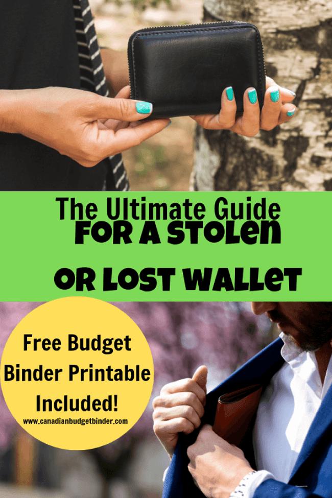 stolen or lost wallet