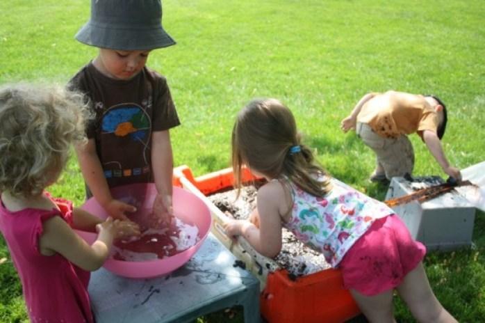 muddy car wash water play activity