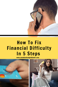 fix financial difficulty