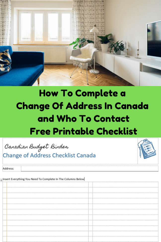 address change checklist