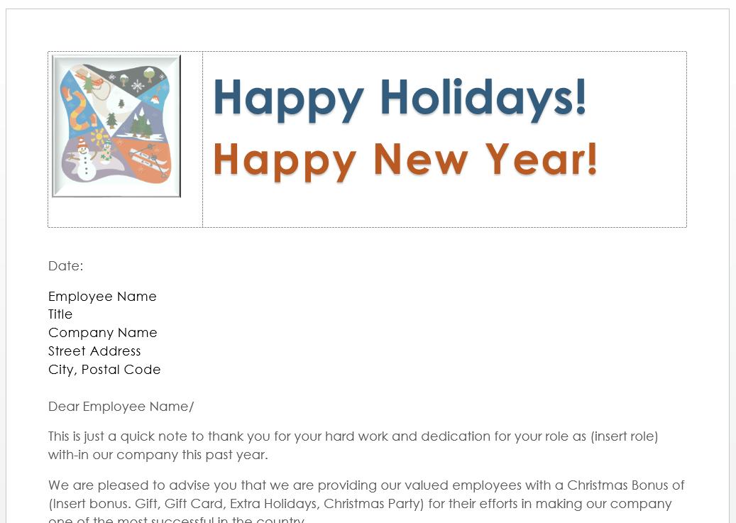 Should Employees Get A Christmas Bonus? (Sample Christmas Bonus Letter To Staff) - Canadian ...