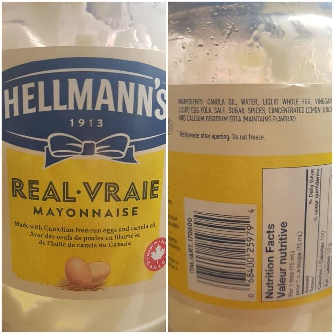 Hellman's Ingredients Canada