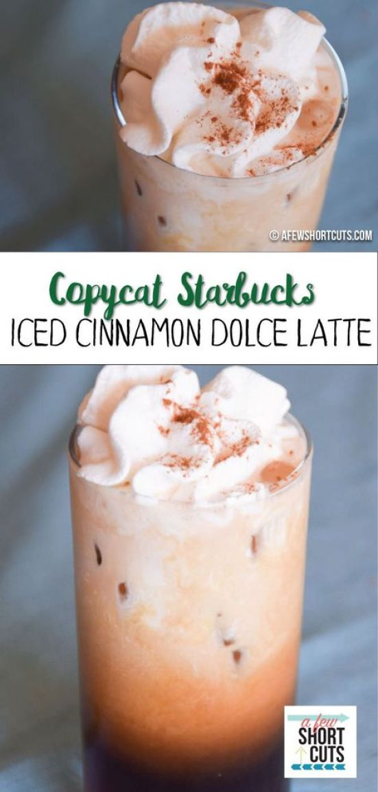 Copycat Starbucks Cinnamon Dolce Latte