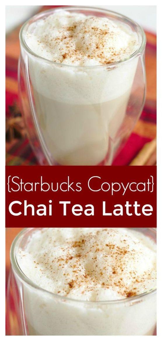 DIY Chai tea latte Starbucks