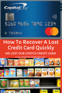 lost Costco MasterCard