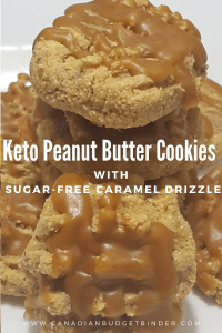 Keto Caramel Peanut Butter Cookies