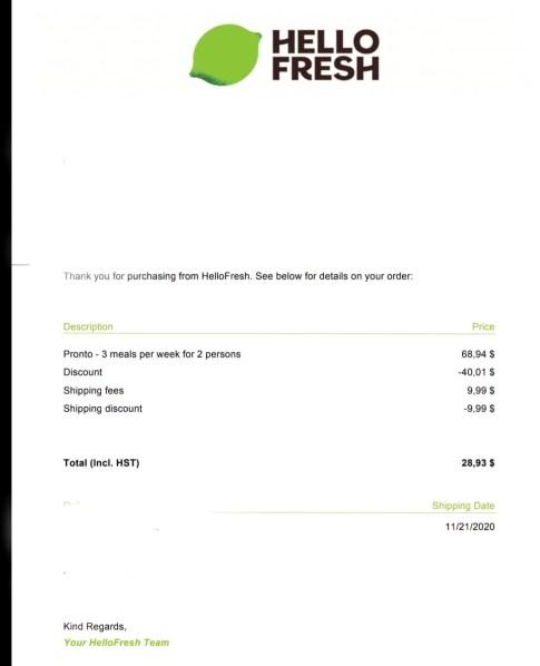 hellofresh costs