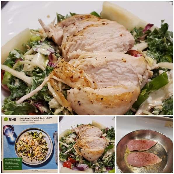 sesame roasted chicken salad
