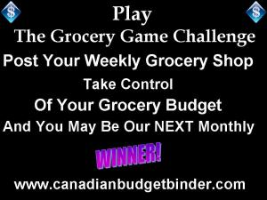 The Grocery Game Challenge Canada