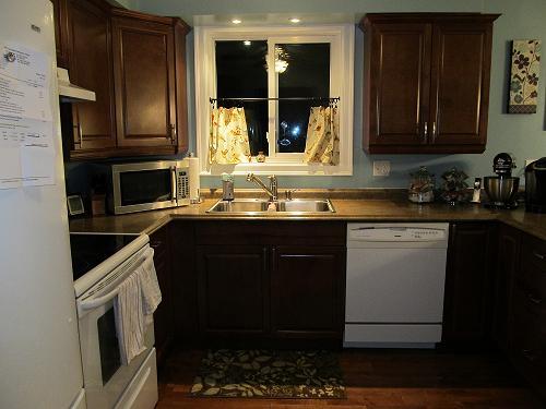 New Dark Wood Kitchen