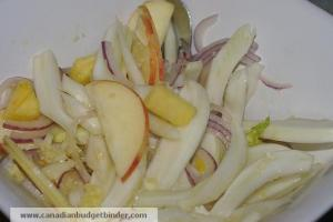 Mr.CBB's Fennel Fruit Salad with ginger lime dressing