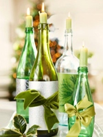wine bottle candleholders