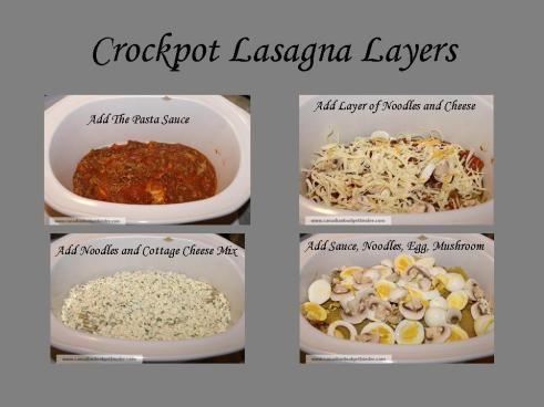 Crockpot Lasagna Layers