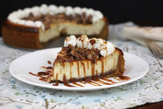 Kahlua Toffee Cheesecake
