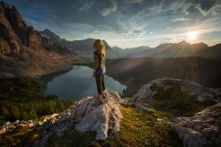 Self portrait at Mount Assiniboine Provincial Park, BC. Photo by Viktoria Haack Photography.