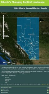 elections Archives   Canadian GIS   Geomatics Alberta s changing political web map