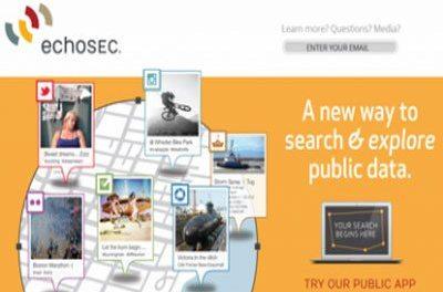 EchoSEC Live Social Media Map Search Application