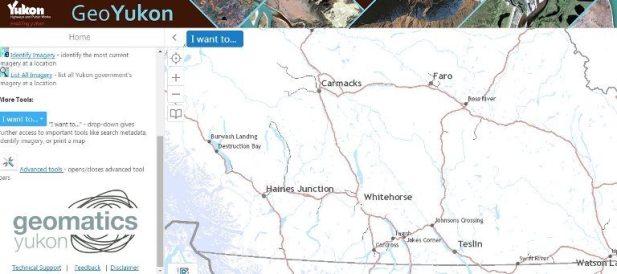 Geomatics Yukon GIS Data and Yukon Lands Viewer