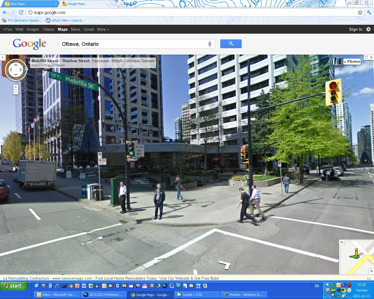 Comparison of Free Online Map Sites  Bing Maps vs Google Maps     Vancouver   Google Street View 1