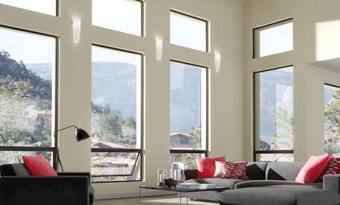 glass windows clean modern