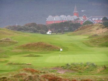 1st hole at Royal County Down