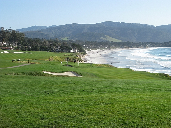 A majestic day in the sun: Pebble's ninth hole