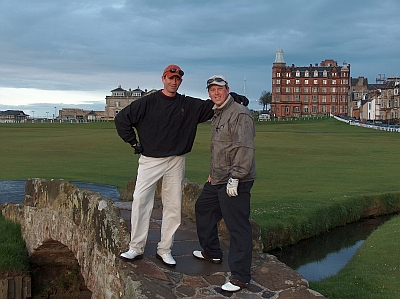 At the Old Course with Fairway Stevie in 2004.