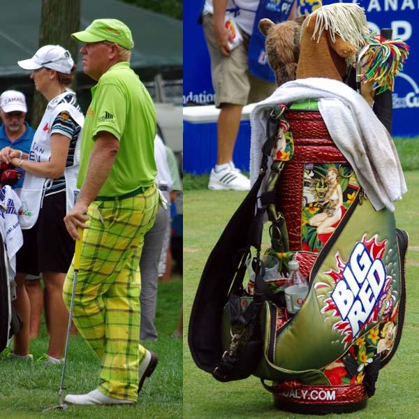 John Daly & golf bag
